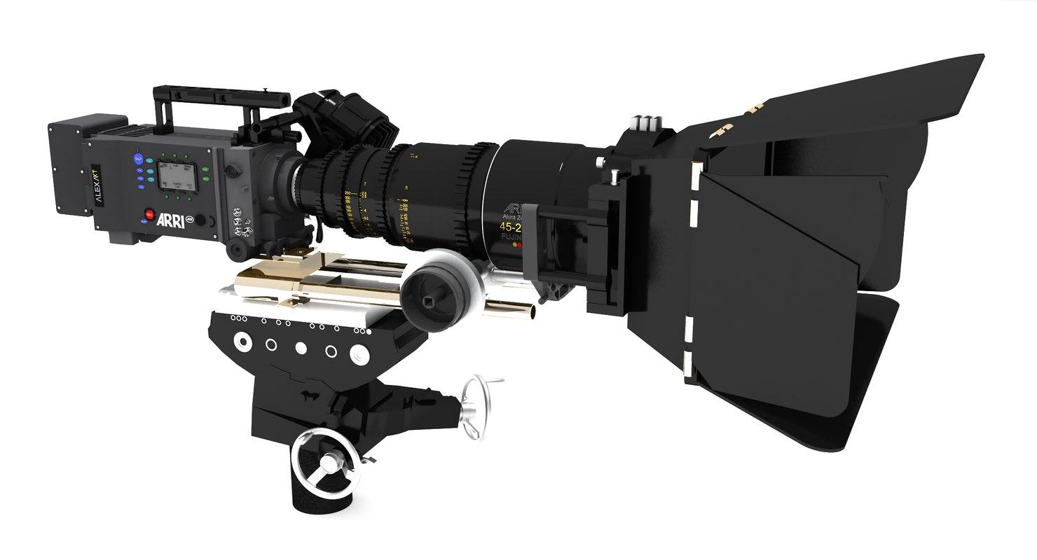 arri alexa movie camera 3d obj