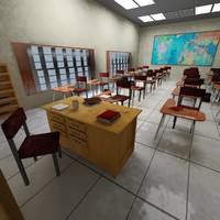 classroom interior design 3d max