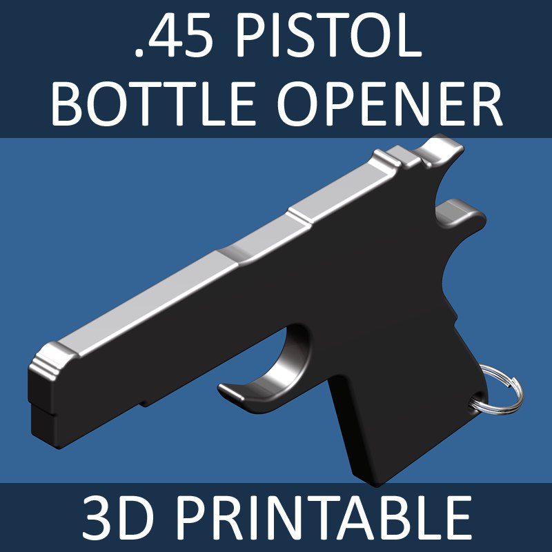 glass bottle opener 45 3d model