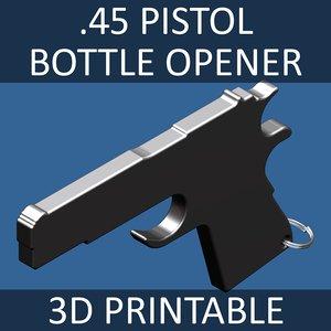 glass bottle opener 45 3d model