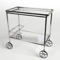 3d food trolley beverage cart