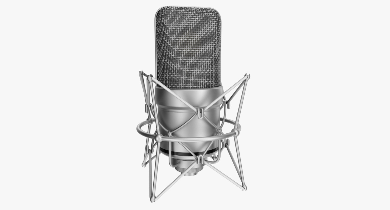 3d max rigged microphone
