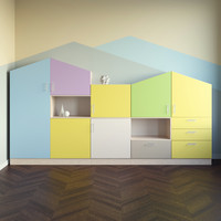 Childroom Furniture Cabinet Wardrobe