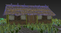 japanese ancient architecture residence 3d model