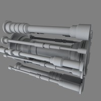 industrial piping b 3d model