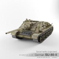 max su-85-ii su-85 soviet war tank