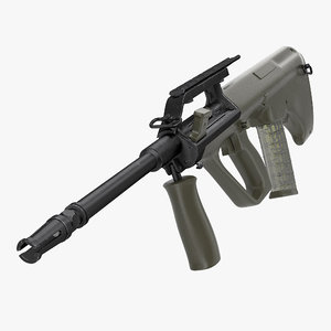 bullpup assault rifle steyr aug 3d max