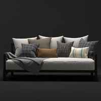 daybed west elm 3d max
