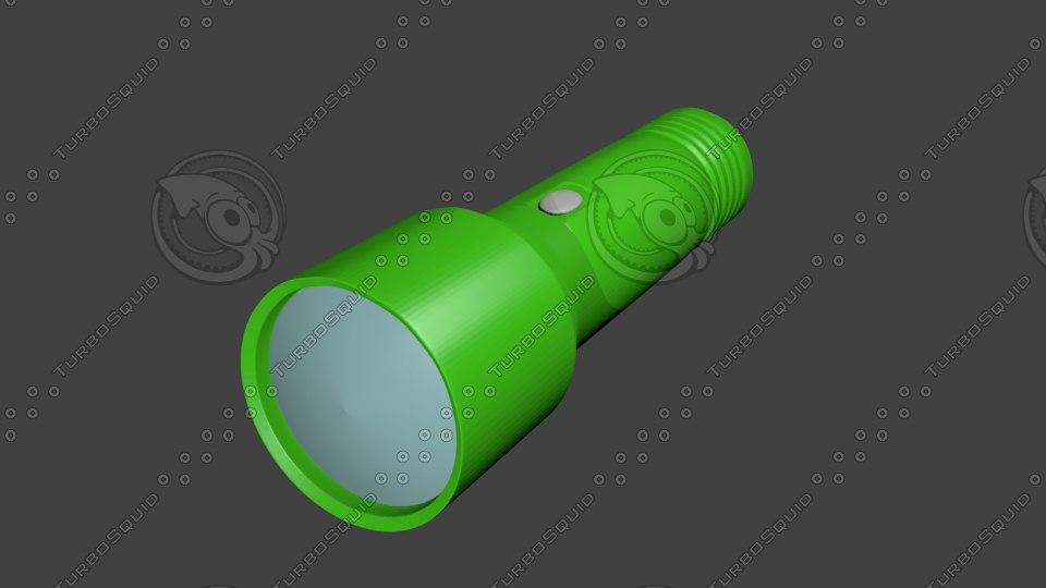 flashlight 3d blend