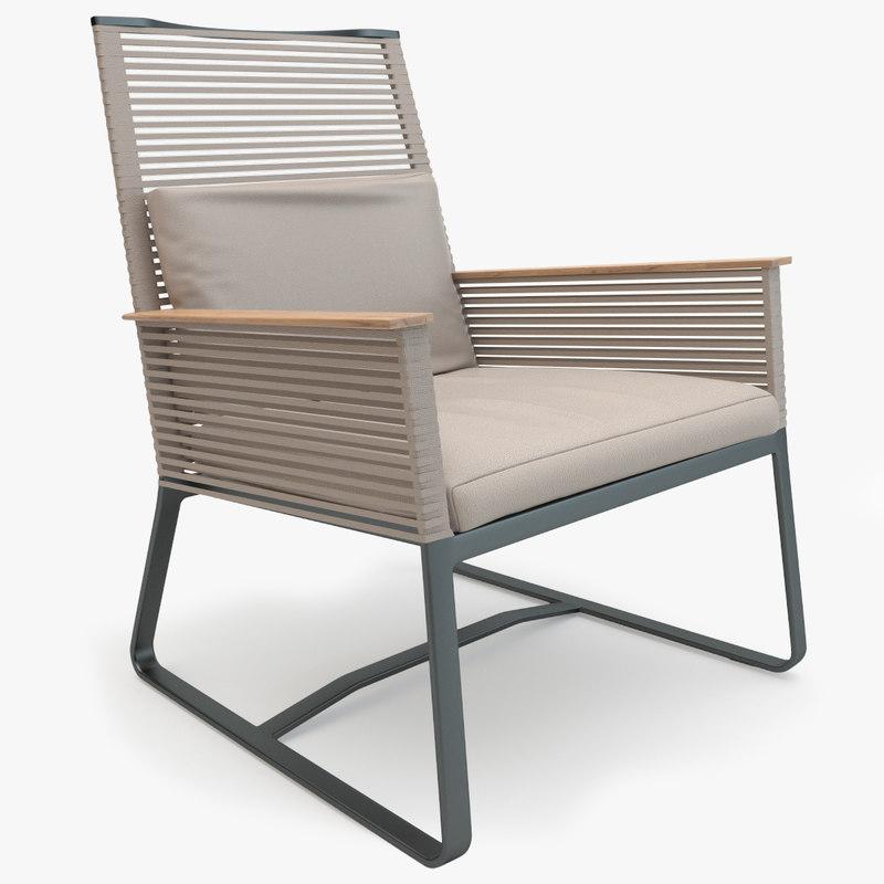 3d kettal landscape club armchair