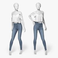 jeans 3d obj