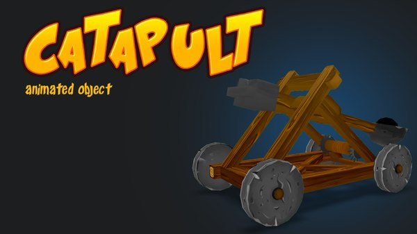 catapult object animations 3d model
