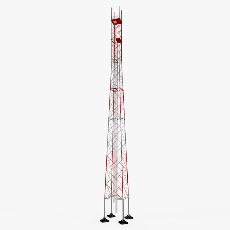 c4d tv communication tower