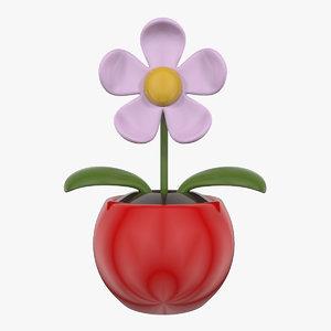 3d toy flower model