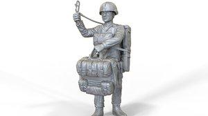 paratrooper soldier obj