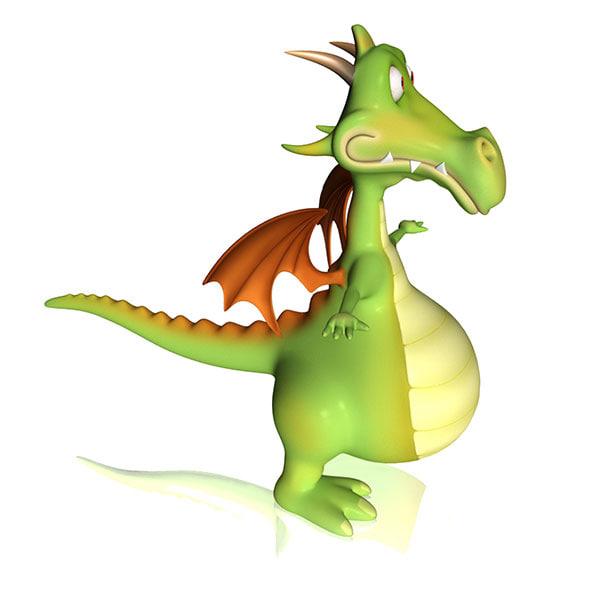 obj dragon cartoon