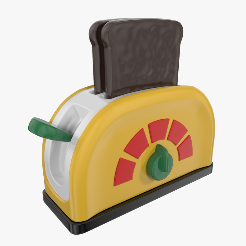 toaster toy 3d 3ds