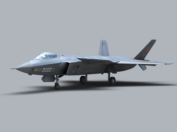 3d stealth jet fighter j-20 model