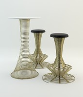 3d dxf helix bar stool table
