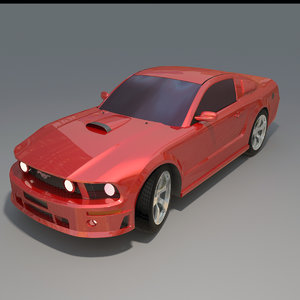mustang 3d model