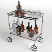 drinks trolley cart 2 obj