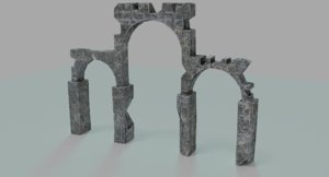 3d ruins mediveal