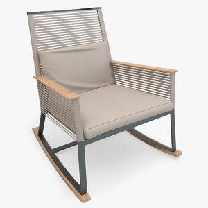 3d kettal landscape rocking armchair