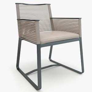 3d model kettal landscape dining armchair