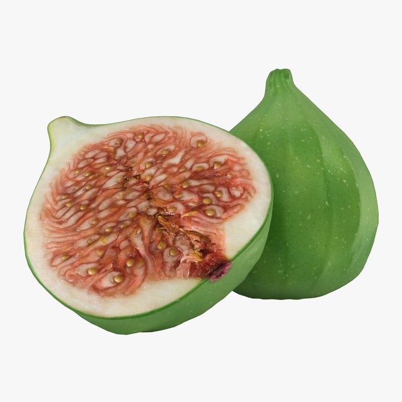 3d model realistic figs green