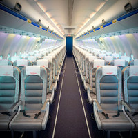 3d airplane cabin interior boeing 737