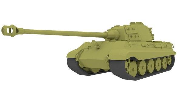 blender tiger tank 3d model