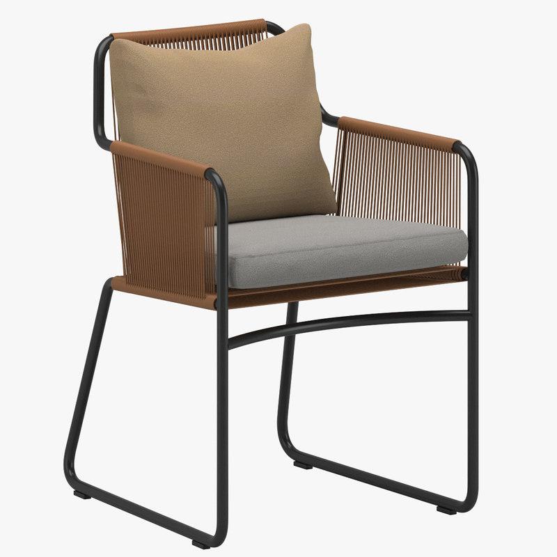 roda chair 3d model