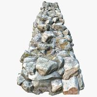 3d model rock wall