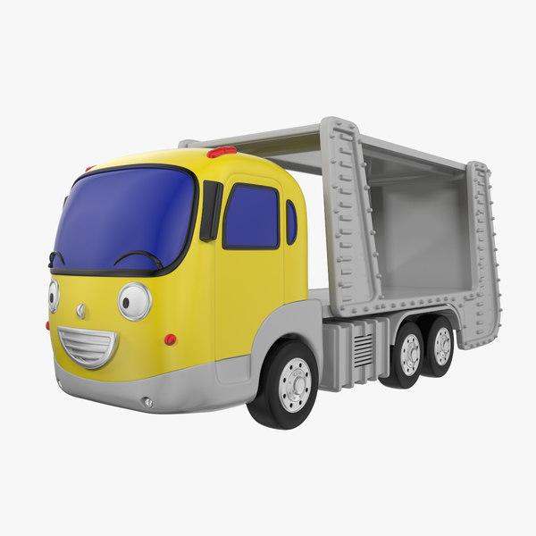transporter car toon 3d 3ds