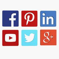 3d social media icon model