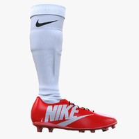 football shoe sock 3d c4d