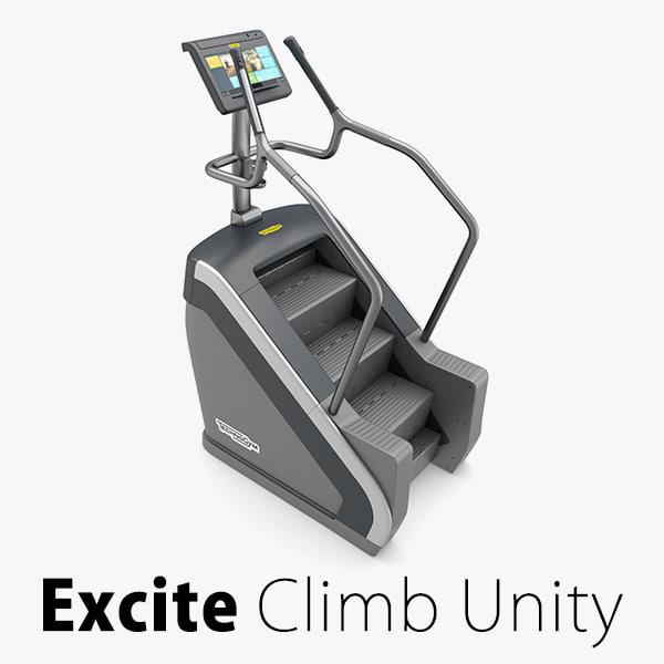 gym climb excite 3d model