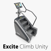 gym climb excite 3d model