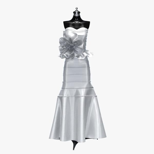 3d wedding dress model