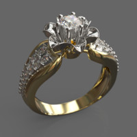 ring female silver 3d obj