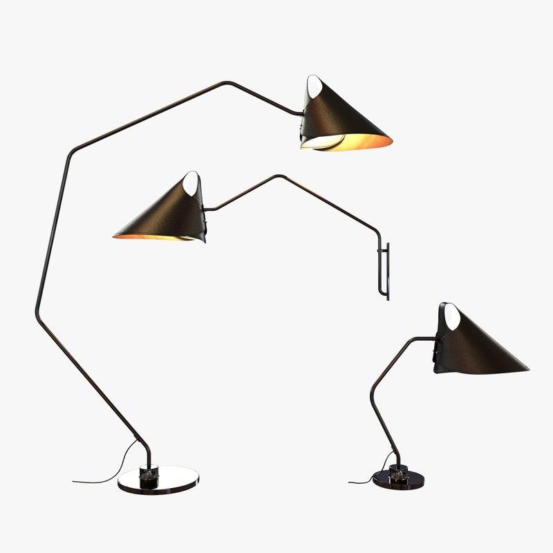 leather jacco maris lamp 3ds