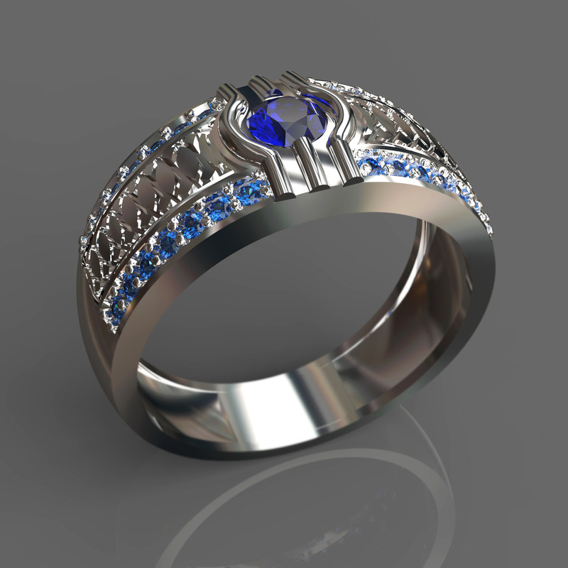 3d silver ring