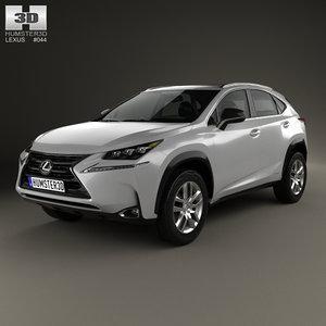 3d model lexus nx hybrid