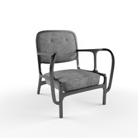 3d wide chair model