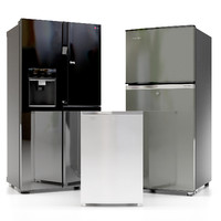 3d max refrigerator kitchen