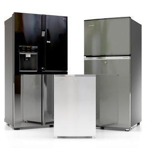 3d max refrigerator kitchen