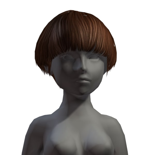 hair 3d fbx