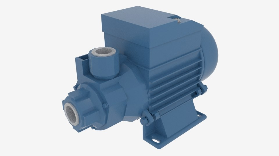 qb series clean water pump 3d 3ds