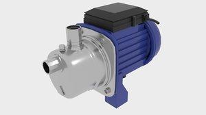 industrial self priming water pump 3d model