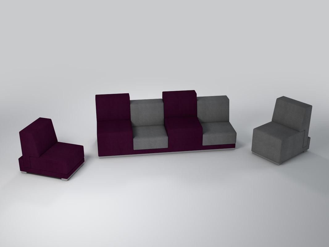 3d model chairs sofa